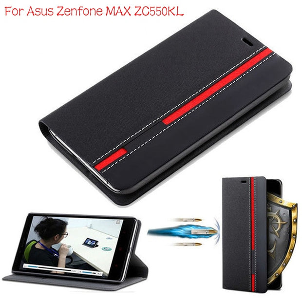 "DIYABEI Flip Phone Case For Asus Zenfone Max ZC550KL Wallet Leather Case For Asus Zenfone Max ZC550KL 5.5"" Case Cover"