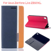 "DIYABEI For Asus Zenfone Live ZB501KL 5.0"" Case Hight Quality Flip Leather Case For Zenfone Live ZB501KL Book Style Stand Cover"