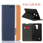 "DIYABEI For LG K10 5.3"" Case Cover For LG K10 PU Leather Flip Wallet Case For LG K10 Phone Coque"