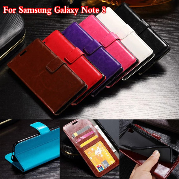 "DIYABEI For Samsung Galaxy Note 8 Case PU Leather Case Cover For Samsung Galaxy Note 8 6.3"" Flip Protective Cell Phone Cover"