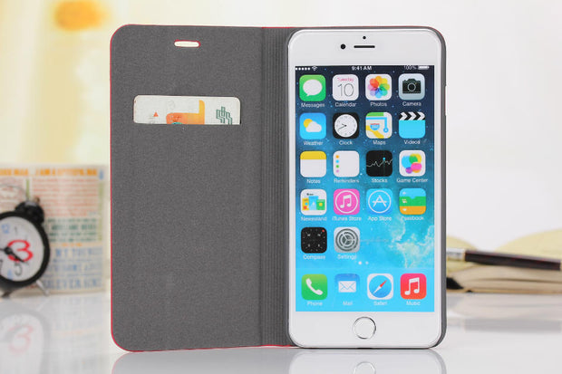 "DIYABEI For IPhone 6 6S 4.7"" Case Leather & Silicone Flip Cover Case With Stand Wallet Coque For IPhone 6 6S"