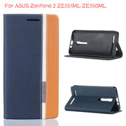 "DIYABEI Luxury Leather Case For Asus Zenfone 2 ZE551ML ZE550ML 5.5"" Flip Cover Wallet With Stand Card Holder"