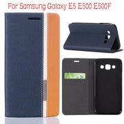 "DIYABEI Retro Luxury Leather Flip Case For Samsung Galaxy E5 E500 E500F 5.0"" Wallet Stand Cover With Card Holders Cases"
