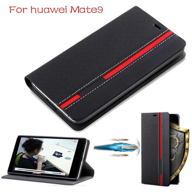 "DIYABEI Wallet Case For Huawei Mate 9 5.9"" Flip Cover PU Leather Stand Phone Bags Cases For Huawei Mate 9 Cover"