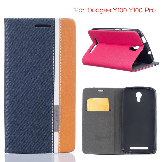 DIYABEI For Doogee Y100 Y100 Pro Case Cover Luxury Leather Wallet Cover Phone Bags Cases For Doogee Y100 Y100 Pro