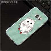 DREAMFOX M419 Cartoon Kitten Soft TPU Silicone Case Cover For Samsung Galaxy Note S 3 4 5 6 7 8 9 Edge Plus Grand Prime