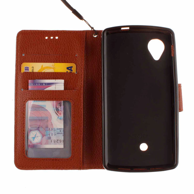 Double Magnet Case For LG Nexus 5 D820 D821 Nexus5 Flip Case Phone Leather Cover For Google 5 Nexus 5th Gen D 820 821