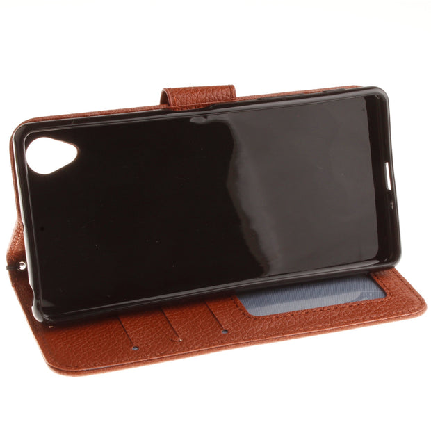 "Double Magnet Case For Sony Xperia X F5121 Dual 5.0"" Inch Flip Case Phone Leather Cover For Sony X Dual X1 F5122 F 5121 5122"