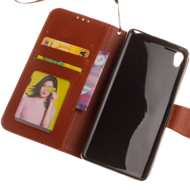 "Double Magnet Case For Sony Xperia XA F3111 Dual 5.0"" Inch Flip Case Phone Leather Cover For Sony XA X A F3113 F3115 F3112 Cases"