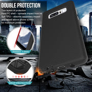 Dual Layer Shockproof Grip Hybrid Hard PC Back Soft TPU Raised Edge Shock Absorption Protective Case For Samsung Galaxy Note 8