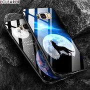 ECLEARER Case For Samsung Galaxy S8 Plus Glass Case Luxury Soft TPU + PC + Tempered Glass Back Cover For Samsung S8 Case Fundas