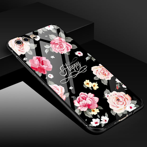 ECLEARER Glass Case For Huawei P10 Case Luxury Soft TPU + PC + Tempered Glass Back Cover For Huawei P10/ Plus Phone Case Fundas