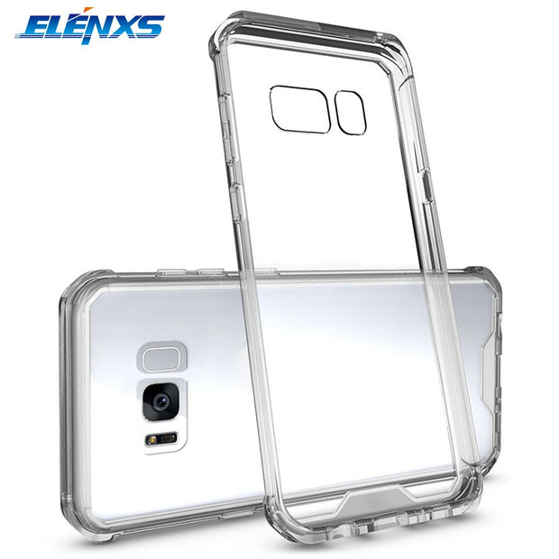 ELENXS For Samsung Galaxy S8 Plus Anti-Scratch Acrylic Back Cover Transparent Phone Case