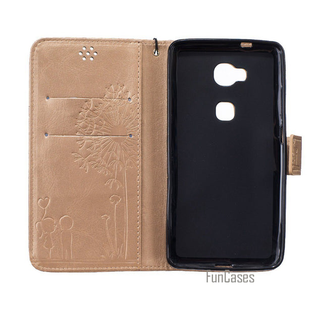 Embossed Case For Coque Honor 5X Case For Fundas Huawei Honor 5X Cover Case 5.5 Inch + Stand Card Holder Estuche Etui Capinhas