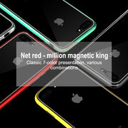Essien Magneto Magnetic Adsorption Case For Iphone XS Max 7 Case Glass PC Magnetic Phone Case For Iphone X XR 8 7 6 6S Plus Case