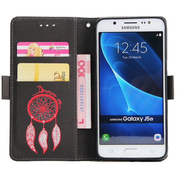 FKISSME Luxury Glitter Dream Wallet PU Leather Case For Samsung Galaxy J5 2016 J510 Cover Stand Flip Case For Samsung J5 2016