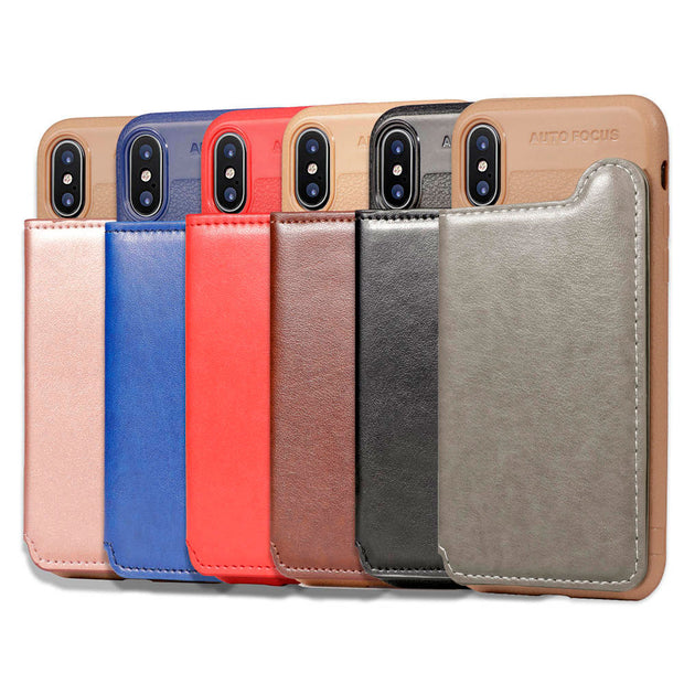 FQYANG Leather Stand Phone Case For IPHONE XS MAX XR XS X Soft Litchi Leather Pattern Phone Case For IPHONE XS MAX XR XS X Case