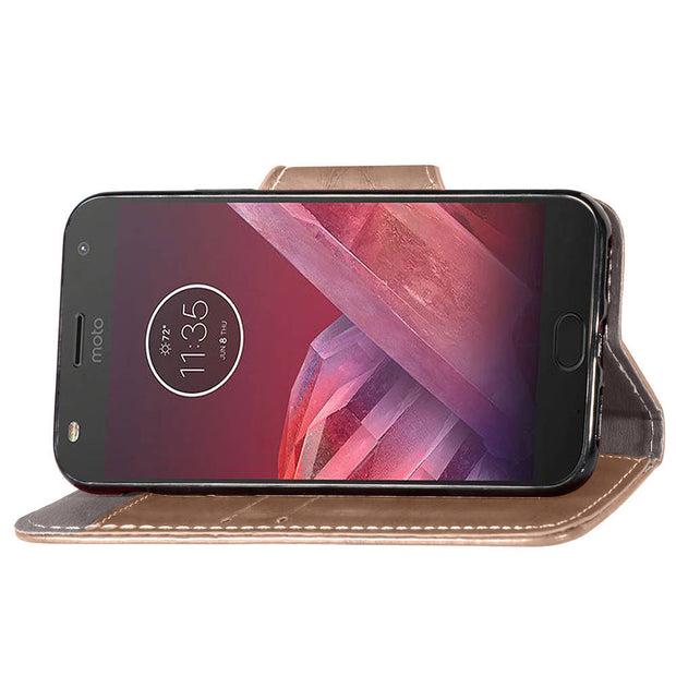 FQYANG Vintage Flip Phone Case For MOTO G6 PLUS Magnetic Wallet Flip PU Leather Stand Case For MOTO Z2 PLAY G5S PLUS Cover Card
