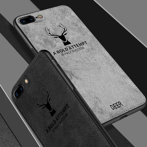 Fabric Ultra-thin Canvas Phone Case For IPhone 7 8 6 6s Plus X 10 Max Xr Cloth Texture Soft Silicone Edge Protective Cover Coque