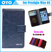 Factory Price! Case 7 Colors Luxury Genuine Leather Exclusive For Prestigio Wize O3 3458 Duo Phone Cover+Tracking