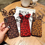 Fashion Magnetic Car Holder Case For IPhone XS XR XS Max X 8 7 6 6S Plus Sexy Leopard Print Soft Silicone Magnet Cover Fundas