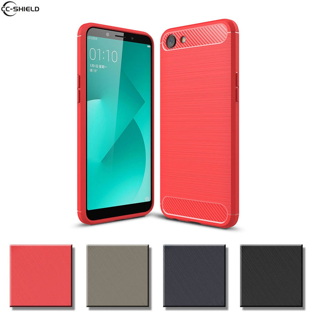 Fitted Case For OPPO A83 A 83 T CN A83t Bumper Armor Case Mobile Phone  Silicon TPU Cover For OPPO A83 Soft Coque Cases Black