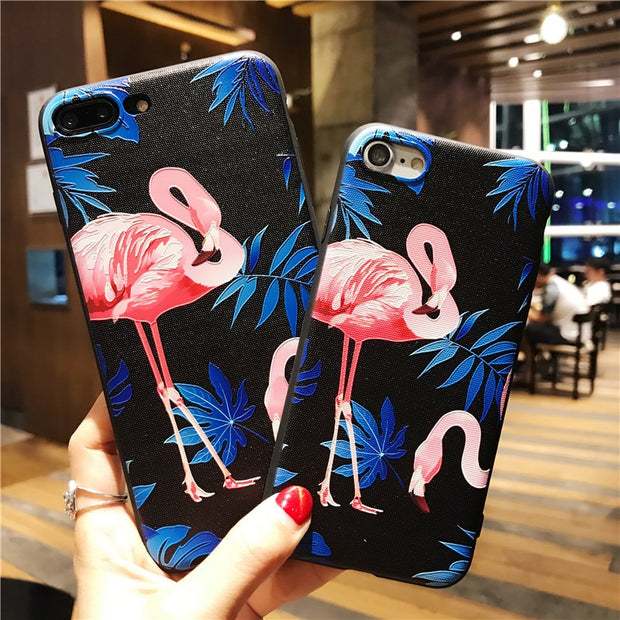 Flame Bird 3D Relief Phone Case For Apple Iphone 5S SE 6 6S 7 8 Plus Soft TPU Back Cover For IPhone X Coque Fundas Capa