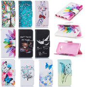 Flip Card Slot Wallet Cover PU Leather Case For Huawei P20 Pro Lite Mate 10 Lite P10 Lite Mate 20 Pro Lite Honor 7C 7A P Smart..