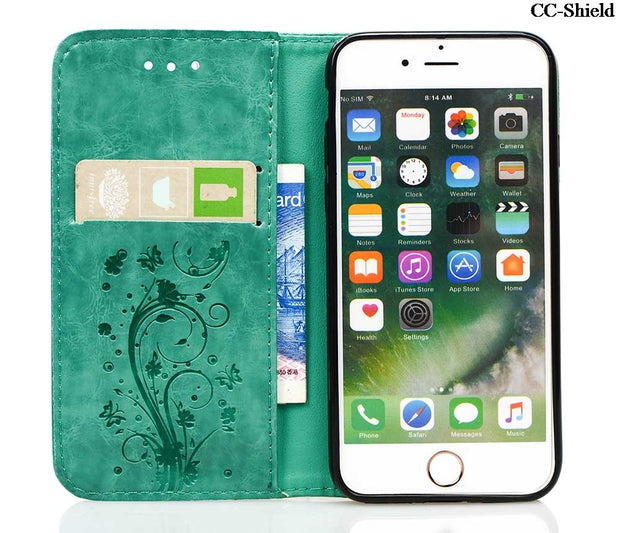 Flip Case For Apple IPhone 7 I Phone7 Phone7 4.7'' Inch Retro Embossed Phone Leather Cover For Apple I Phone 7 IPhone7 4.7'' Bag