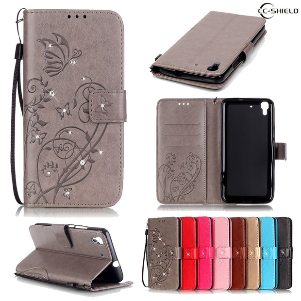 Flip Case For Huawei Y6 SCL-L01 SCL-L21 Leather Diamond Phone ...