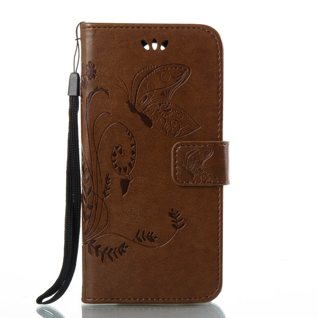 Flip Case For LG K4 2017 M160 M 160 Retro Butterfly Leather Flip Cover Wallet Case For LG K 4 LGK4 2017 M160E Mobile Phone Bags