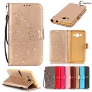 Flip Case For Samsung Galaxy Grand Prime G531 H DS G531H G531H/DS G531F SM-G531H SM-G531F SM-G531H/DS Leather Diamond Phone Case