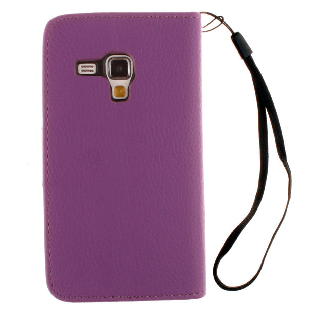 Flip Case For Samsung Galaxy S 3 Iii Mini S3 Siii I8190 GT-i8190 GT-i8190T Value Edition VE I8200 GT-i8200 Phone Leather Cover