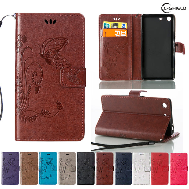 Flip Case For Sony Xperia M5 Dual E5633 E5603 Leather Flip Cover Wallet Case For Sony Xperia M 5 E 5633 5603 Mobile Phone Bags