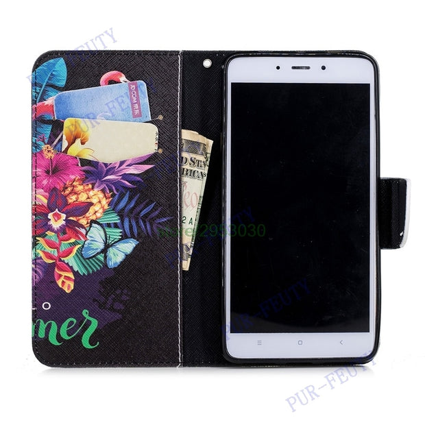 Flip Case For Xiaomi Redmi Note 4X Note4X Wallet Case Phone Leather Cover For Xiaomi Redmi Note 4 4 X Silicon Cases Bag Housing