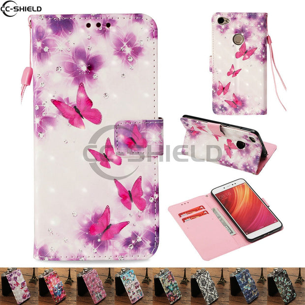 Flip Case For Xiaomi Redmi Note 5A Note5A Wallet Case Phone Leather Cover For Xiaomi Red Mi Note 5A Silicon Cases Bag Housing