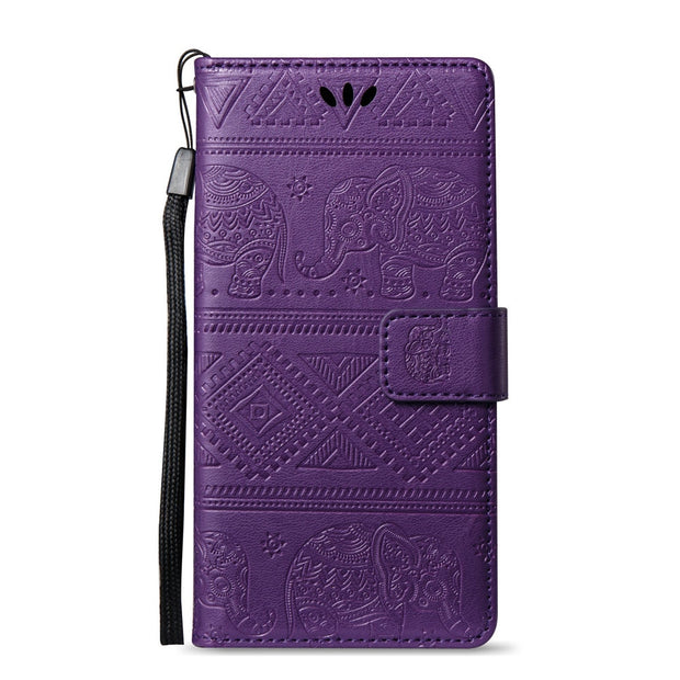 Flip Coque For Huawei P10 Lite WAS-LX1 Retro Elephant Case Flip Wallet Leather Cover Phone Case For Huawei P 10 Lite WAS LX1 Bag