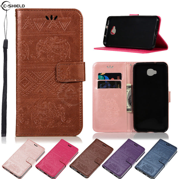 Flip Coque For ASUS ZenFone 4 Selfie ZD553KL ZD553 KL ZD 553KL X00LD ASUS_X00LD Elephant Case Wallet Leather Cover Phone Case