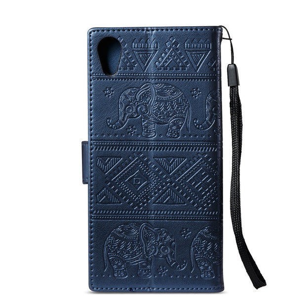 Flip Coque For Sony Xperia XA1 G3116 G3112 G3121 Flip Wallet Leather Cover Phone Case For Sony Xperia XA 1 2017 Elephant Case