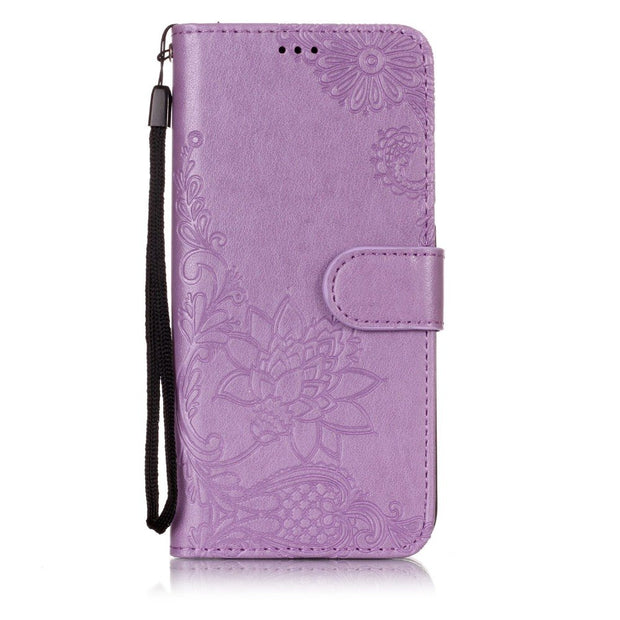 Flip Leather P20 Case For Coque Huawei P20 Lite Case Huawei P20 Pro Cover Wallet Silicone Stand Phone Case With Strap