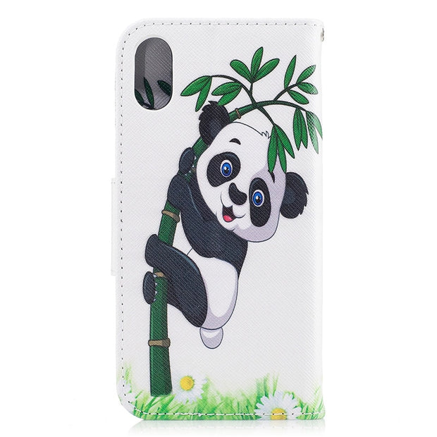 Flip PU Leather Case For IPhone X Xs XS MAX XR Case For IPhone 8 7 6 6S Plus 5 5S SE Card Slot Wallet Cover Stand Phone Shell