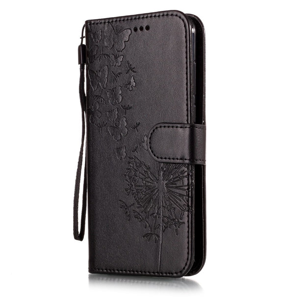 Flip PU Leather + Wallet Phone Case For Huawei Y5 2018 Y6 Y7 2018 Y9 2018 Stand Shell For Huawei Y5 Pro Y6 II Y7 Prime Phone Bag