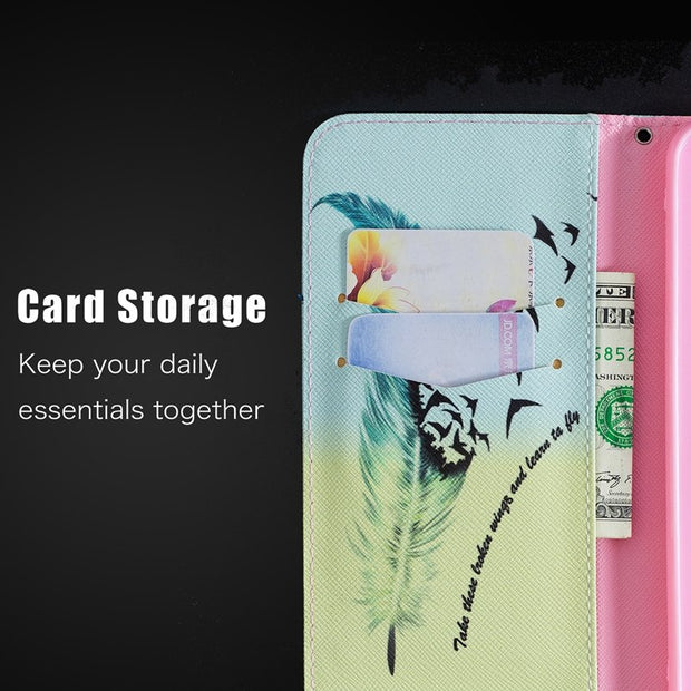 Flip Wallet Cover Redmi 6 Pro Case Silicone Bumper Frame Tree Of Life Paint Case Redmi 6 A Cover For Xiaomi Redmi Note 6 Pro 6A