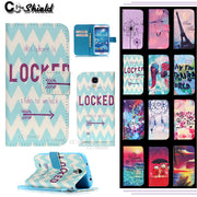 Flip Case For Sumsung Galaxy S4 S 4 Mini 4mini / S4mini Duos I9192 I9195i GT-i9190 GT-i9192 GT-i9195 Painting Phone Cove Case