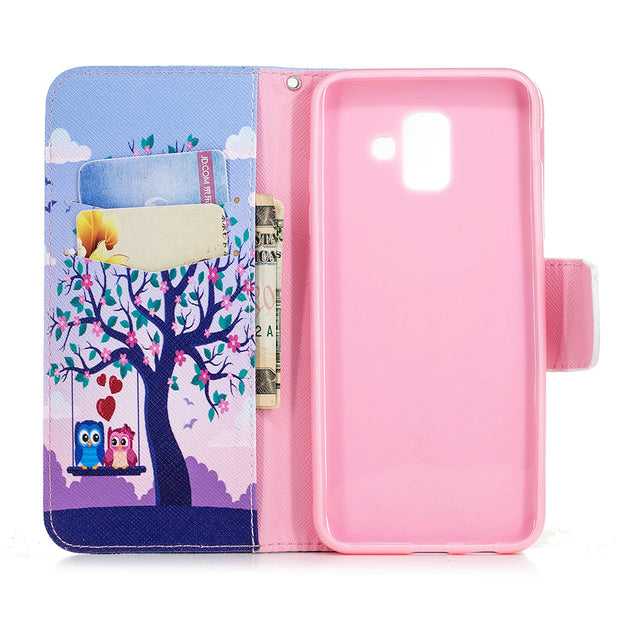 "Flip For Samsung Galaxy A600f 2018 A600 A600fn Sm-a600 For Samsung Galaxy A6 2018 Case SM-A600FN/DS 5.6 ""cover Mobile Phone Bag"