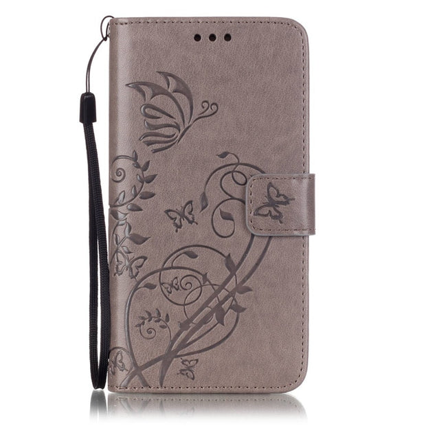 Flower Hoesje For Samsung Galaxy J5 2016 J510 J510F SM-J510F Leather Case Flip Silicon Protective Cover For Samsung J5 2016 Case