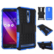 For Asus Zenfone 2 ZE551ML Dual Layer TPU & PC Hybrid Rugged Heavy Duty Robot Cover Kickstand Hard Back Armor Case
