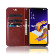"For Asus Zenfone Max (M1) ZB555KL 5.5"" 3D Pattern Owl Luxury Flip PU Leather Case Card Insert Slots Wallet Stand Cover"