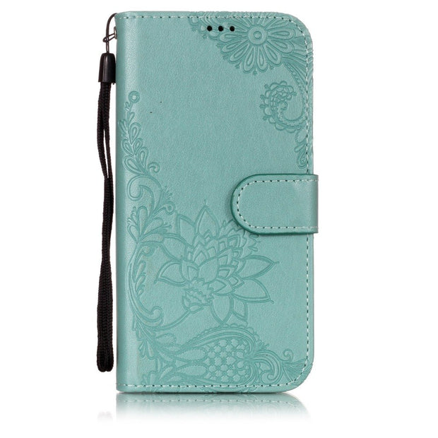 For Coque Huawei Y5 2018 Case, Leather Case For Fundas Huawei Y5 Prime Case Y6 2018 Cover Flip Wallet Painted Stand Phone Cases