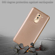 For Huawei GR5 Honor 6X Mate 9 Lite Case Carbon Fiber Slim Duarable Cases Air Cushion Tecnology TPU Impact Silicone Protective